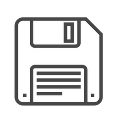 floppy disk line icon vector image
