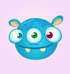 happy cartoon alien vector image