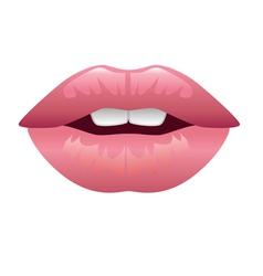 lips kiss vector image vector image
