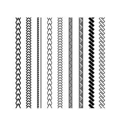 polynesian tattoo style brush design vector image
