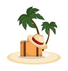 vacations travel holidays icons vector image