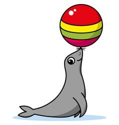 Cute cartoon seal vector image vector image