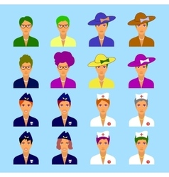 male and female characters set vector image vector image