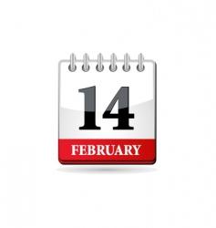 red calendar vector image