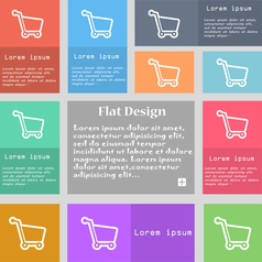 Shopping cart icon sign Set of multicolored vector image vector image
