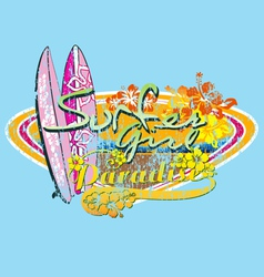 surfer girl paradise vector image vector image