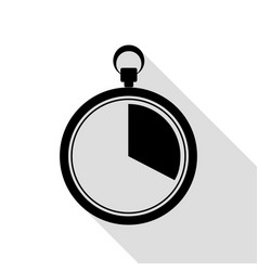 the 20 seconds minutes stopwatch sign black icon vector image