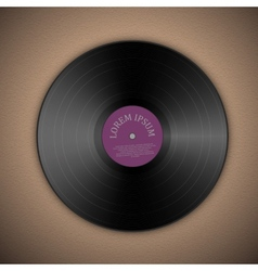 Vinyl music record vector image