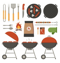 Barbecue Tools Collection vector image