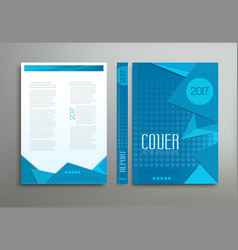 blue template brochure book report business vector image vector image