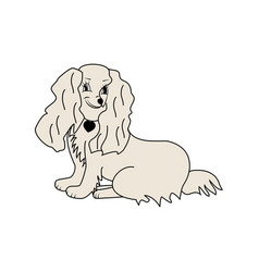 dog isolated sign vector image vector image