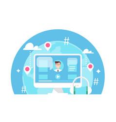 Online event e-learning or webinar vector