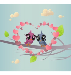Two Enamoured Birdies vector image
