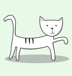 cute cat for kids print vector image