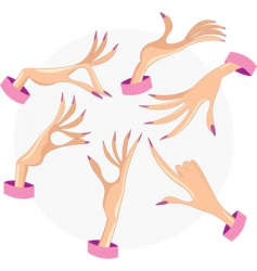 female hands vector image vector image