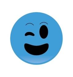 happy wink emoticon icon vector image vector image