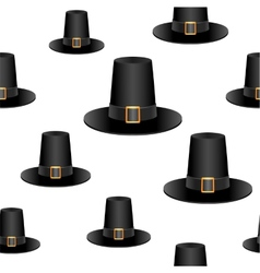 Pilgrim hat background vector image vector image