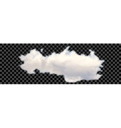 Set of transparent different clouds on black vector image vector image