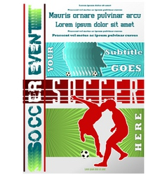 sport event poster soccer vector image vector image