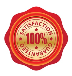 Wax seal guarantee vector image vector image