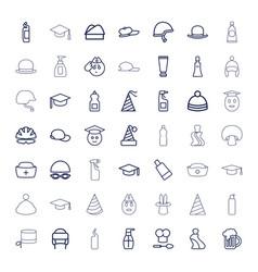 49 cap icons vector