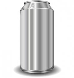 Aluminum jar vector