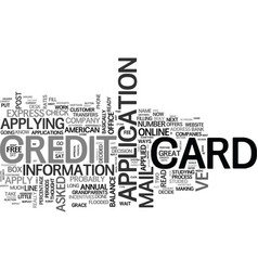 Apply for student credit cards online text word vector