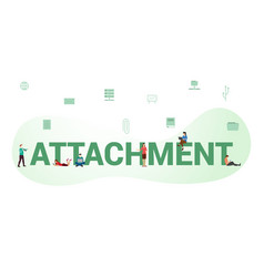 attachment document data concept with big word or vector image