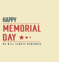 Background memorial day theme style vector