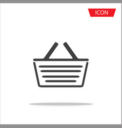basket icon or shopping symbol isolated on white vector image