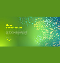 Best fireworks advertise banner pyrotechnic shop vector