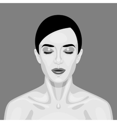 Black and white sleeping Vampire Woman vector image