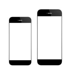 black mobile phone similar iphone vector image