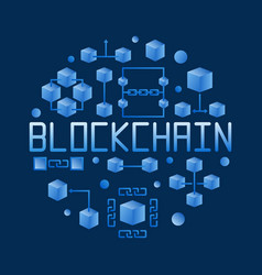blockchain colored round concept vector image