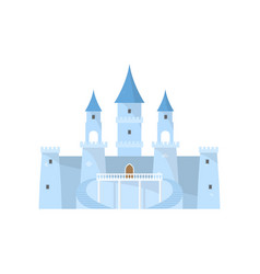 blue fairy ice castle for beautiful king princess vector image