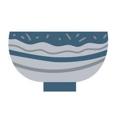 Bowl or soup plate ceramic dishware pot vector