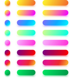bright colorful icon templates isolated on white vector image