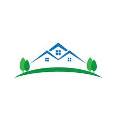 Buildings abstract logo design template vector