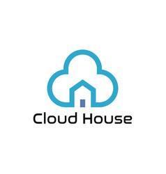 cloud home logo design vector image