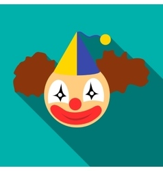 Clown head icon flat style vector