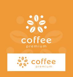 coffee logo modern concept coffee bean icon vector image