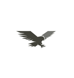 creative black geometric eagle logo vector image