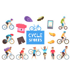 Cycle racing set vector