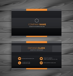 Dark modern business card vector
