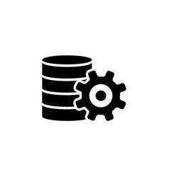 database center data server settings flat vector image