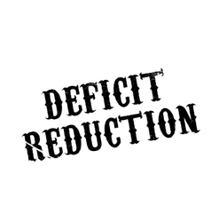 Deficit Reduction rubber stamp vector image