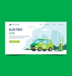 electric car landing page - concept vector image