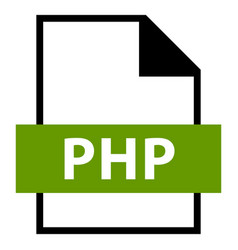 File name extension php type vector