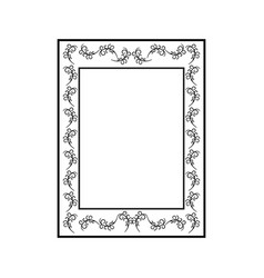 frame rectangle card vector image