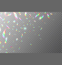 Holographic backdrop flying rainbow foil shining vector